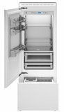 "REF30PRL Bertazzoni 30"" Professional Series Left Hinge Built In Bottom Mount Refrigerator with FlexMode Control and Precise Temperature Control - Custom Panel"