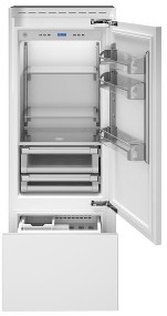 "REF30PRR Bertazzoni 30"" Professional Series Right Hinge Built In Bottom Mount Refrigerator with FlexMode Control and Precise Temperature Control - Custom Panel"