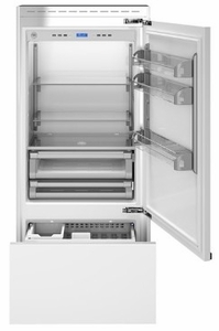 "REF36PRR Bertazzoni 36"" Professional Series Right Hinge Built In Bottom Mount Refrigerator with FlexMode Control and Precise Temperature Control - Custom Panel"