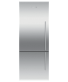 "RF135BDLJX4 Fisher & Paykel 25"" Series 7 Contemporary Counter Depth Bottom Mount Refrigerator with Internal Ice Maker - Left Hinge - Stainless Steel"