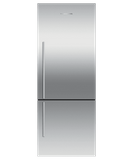 "RF135BDRJX4 Fisher & Paykel 25"" Series 7 Contemporary Counter Depth Bottom Mount Refrigerator with Internal Ice Maker - Right Hinge - Stainless"