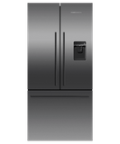 """RF170ADUSB5 Fisher & Paykel 32"""" Series 7 Contemporary Counter Depth French Door Refrigerator with Internal Ice Maker and Ultra Slim Water Dispenser - Black Stainless Steel"""
