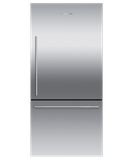 "RF170WDRJX5 Fisher & Paykel 32"" Series 7 Contemporary Counter Depth Bottom Mount Refrigerator - Right Hinge with Internal Ice Maker - Stainless Steel"