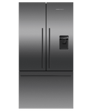 """RF201ADUSB5 Fisher & Paykel 36"""" Series 7 Contemporary Counter Depth French Door Refrigerator with Internal Ice Maker and Ultra Slim Water Dispenser - Black Stainless Steel"""