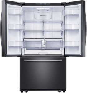 "RF20HFENBSG Samsung 33"" 20 cu. ft. Capacity French Door Refrigerator with Twin Cooling System and LED Lighting - Black Stainless Steel"