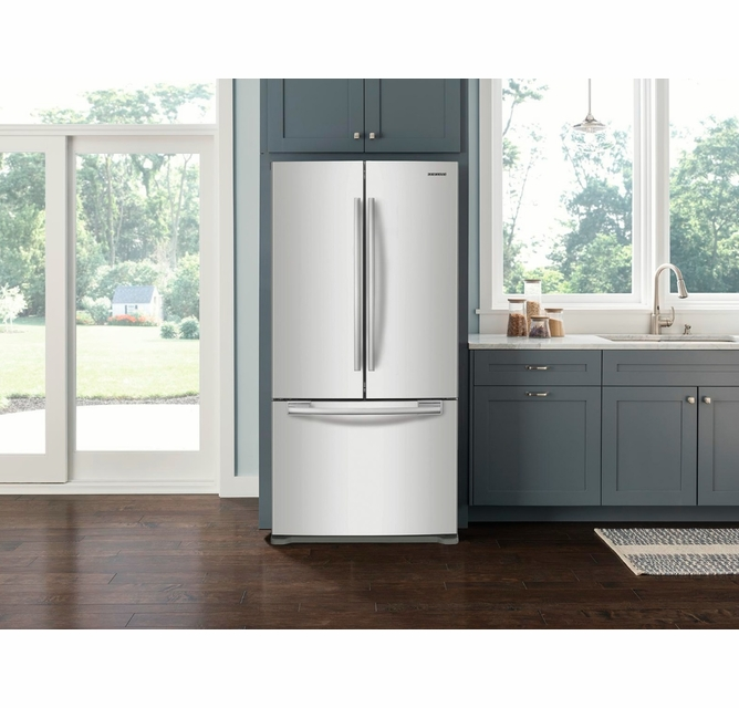 Rf20hfenbww Samsung 33 Wide 20 Cu Ft Capacity French Door Refrigerator With Ice Maker White