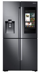 """RF22N9781SG Samsung 36"""" 22 Cu. Ft. Counter Depth 4-Door French Door Refrigerator with Family Hub and Triple Cooling System - Fingerprint Resistant Black Stainless Steel"""