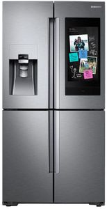"""RF22N9781SR Samsung 36"""" 22 Cu. Ft. Counter Depth 4-Door French Door Refrigerator with Family Hub and Triple Cooling System - Fingerprint Resistant Stainless Steel"""