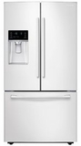 """RF23HCEDBWW Samsung 36"""" Counter Depth 23 cu. ft. Capacity French door Refrigerator with Twin Cooling and Cool Select Pantry - White"""