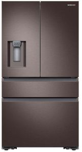 """RF23M8070DT Samsung 36"""" 22.7 cu. ft. Counter Depth French 4 Door Refrigerator with Twin Cooling Plus and FlexZone Drawer - Tuscan Stainless Steel"""