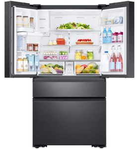"""RF23M8570SG Samsung 36"""" 22.2 cu. ft. Counter Depth 4 Door Refrigerator with Family Hub and Twin Cooling Plus - Fingerprint Resistant Black Stainless Steel"""