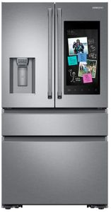 "RF23M8590SR Samsung 36"" 22.2 cu. ft. Counter Depth 4 Door Refrigerator with Family Hub and Twin Cooling Plus - Fingerprint Resistant Stainless Steel"