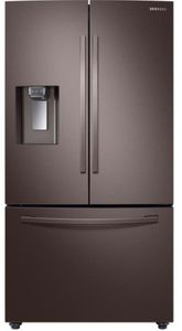 "RF23R6201DT Samsung 36"" 23 cu.ft Counter Depth 3 Door French Door Refrigerator with CoolSelect Pantry and Twin Cooling Plus - Fingerprint Resistant Tuscan Stainless Steel"