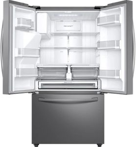 """RF23R6201SR Samsung 36"""" 23 cu.ft Counter Depth 3 Door French Door Refrigerator with CoolSelect Pantry and Twin Cooling Plus - Fingerprint Resistant Stainless Steel"""