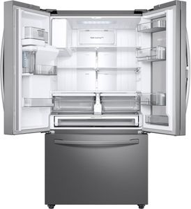 """RF23R6301SR Samsung 36"""" 23 cu. ft. Counter Depth French 3 Door Refrigerator with Food Showcase Door and AutoFill Water Pitcher - Fingerprint Resistant Stainless Steel"""
