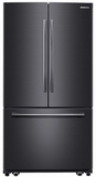 """RF261BEAESG Samsung 36"""" French Door Refrigerator with Twin Cooling Plus and Cool Select Pantry - Fingerprint Resistant Black Stainless Steel"""