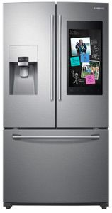 "RF265BEAESR Samsung 36"" 24.2 cu. ft. French Door Flex Refrigerator with Family Hub and Twin Cooling Plus - Fingerprint Resistant Stainless Steel"