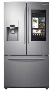 """RF265BEAESR Samsung 36"""" 24.2 cu. ft. French Door Flex Refrigerator with Family Hub and Twin Cooling Plus - Fingerprint Resistant Stainless Steel"""