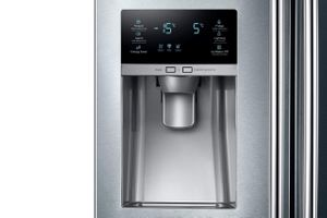 "RF26J7500SR Samsung 33"" Wide 26 cu. ft. Capacity 3-Door French Door Refrigerator with CoolSelect Pantry - Stainless Steel"