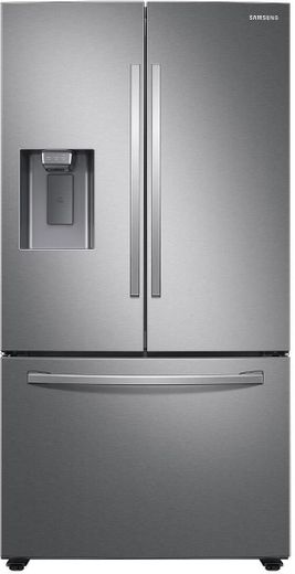 "RF27T5201SR Samsung 36"" 27 cu. ft. 3 Door French Door Refrigerator with External Water & Ice Dispenser - Fingerprint Resistant Stainless Steel"