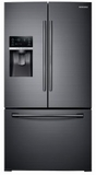"""RF28HDEDBSG Samsung 36"""" 28 cu. ft. Capacity 3-Door French Door Food ShowCase Refrigerator with CoolSelect Pantry and TwinCooling Plus - Fingerprint Resistant Black Stainless Steel"""
