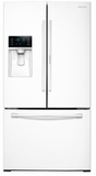 """RF28HDEDPWW Samsung 36"""" 28 cu. ft. Capacity 3-Door French Door Food ShowCase Refrigerator with CoolSelect Pantry and TwinCooling Plus - White"""