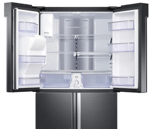 """RF28N9780SG Samsung 36"""" 28 Cu. Ft. 4-Door French Door Refrigerator with Family Hub and Triple Cooling System - Finger Print Resistant Black Stainless Steel"""