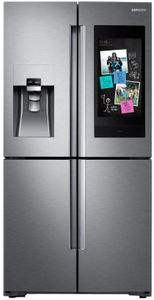 "RF28N9780SR Samsung 36"" 28 Cu. Ft. 4-Door French Door Refrigerator with Family Hub and Triple Cooling System - Fingerprint Resistant Stainless Steel"