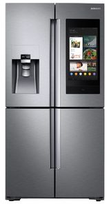 """RF28N9780SR Samsung 36"""" 28 Cu. Ft. 4-Door French Door Refrigerator with Family Hub and Triple Cooling System - Fingerprint Resistant Stainless Steel"""