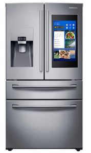 """RF28NHEDBSR Samsung 36"""" 28 Cu. Ft. 4-Door French Door Refrigerator with Family Hub and Twin Cooling Plus - Stainless Steel"""