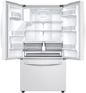 """RF28R6202WW Samsung 36"""" 28 cu.ft 3 Door French Door Refrigerator with CoolSelect Pantry and Twin Cooling Plus - Fingerprint Resistant White"""