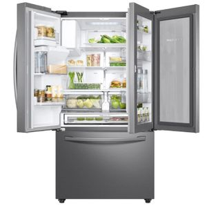 "RF28R6301SR Samsung 36"" 3 Door French Door Refrigerator with Food Showcase Door and Twin Cooling Plus - Fingerprint Resistant Stainless Steel"
