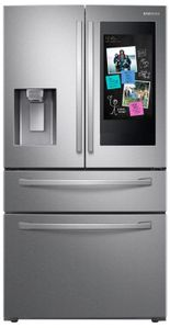 "RF28R7551SR Samsung 36"" 28 cu. ft. WiFi Enabled 4-Door French Door Refrigerator with Connected Touchscreen Family Hub and BixbyVoice - Fingerprint Resistant Stainless Steel"