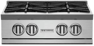 """RGTNB24FTV2N BlueStar 24"""" Natural Gas Rangetop - All French Top - Stainless Steel"""