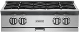 "RGTNB364CBV2N BlueStar 36"" Natural Gas Rangetop - 4 Burners with 12"" Charbroiler - Stainless Steel"