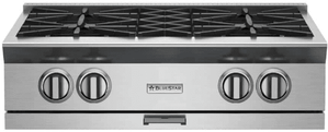 """RGTNB364GV2N BlueStar 36"""" Natural Gas Rangetop - 4 Burners with 12"""" Griddle - Stainless Steel"""