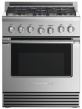 """RGV2305NN 30"""" Fisher & Paykel Professional Series Natural Gas Range with 5 Sealed Burners and 4.0 cu. ft. Convection Oven - Stainless Steel"""