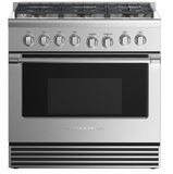 "RGV2366NN Fisher & Paykel 36"" Natural Gas Range with 6 Burners and LED Halo Control Dials - Stainless Steel"