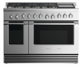 "RGV2486GDLN Fisher & Paykel 48"" Liquid Propane Gas Range with 6 Burners and Griddle - Stainless Steel"