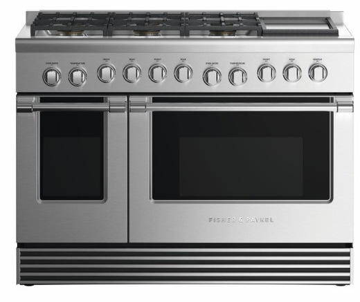 """RGV2486GDNN Fisher & Paykel 48"""" Natural Gas Range with 6 Burners and Griddle - Stainless Steel"""