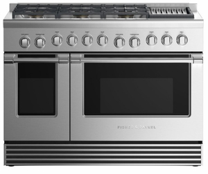 "RGV2486GLLN Fisher & Paykel 48"" Liquid Propane Gas Range with 6 Burners and Grill - Stainless Steel"