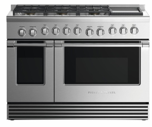 """RGV2486GLNN Fisher & Paykel 48"""" Natural Gas Range with 6 Burners and Grill - Stainless Steel"""