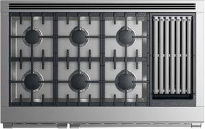"RGV2486GLNN Fisher & Paykel 48"" Natural Gas Range with 6 Burners and Grill - Stainless Steel"