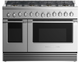 """RGV2488LN Fisher & Paykel 48"""" Liquid Propane Gas Range with 8 Burners and LED Halo Controls  - Stainless Steel"""