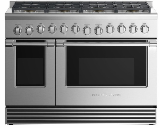 """RGV2488NN Fisher & Paykel 48"""" Natural Gas Range with 8 Burners and LED Halo Controls  - Stainless Steel"""