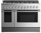"RGV2488NN Fisher & Paykel 48"" Natural Gas Range with 8 Burners and LED Halo Controls  - Stainless Steel"