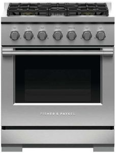 "RGV3305N Fisher & Paykel 30"" Professional Gas Range 5 Burner - Natural Gas - Stainless Steel"