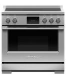 "RIV3365 Fisher & Paykel 36"" Series 9 Professional 5 Zone Induction Range with True Convection Oven and Self Clean - Stainless Steel"