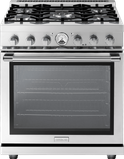 "RL301GPSS Superiore 30"" LA CUCINA Series Panorama Free Standing Gas Range with Convection and 5 Sealed Burners- Stainless Steel"