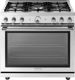 "RL361GPSS Superiore 36"" LA CUCINA Series Panorama Free Standing Gas Range with Convection and 5 Burners- Stainless Steel"